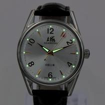 8120国产手表上链手动机械手表大数字男士库存超薄夜光复古腕表