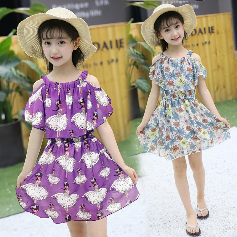 10-25新券童装女童吊带连衣裙夏装2019新款韩版小女孩洋气儿童雪纺公主裙子