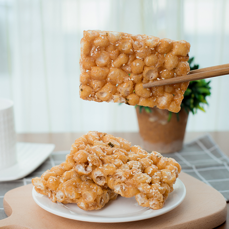 温州苍南手工小吃沙琪玛硬脆老式传统休闲零食松糖怀旧糕点萨其马