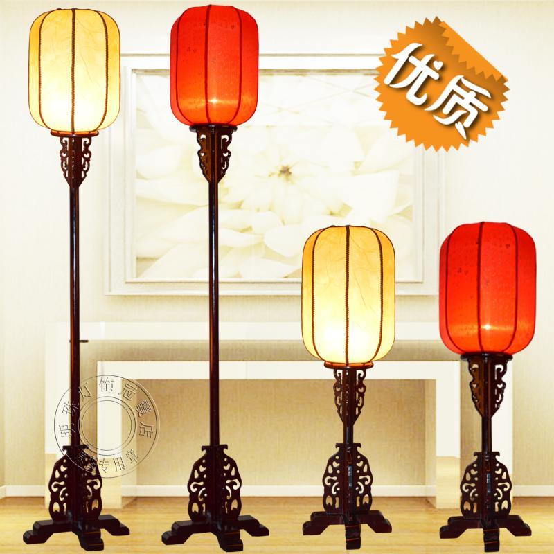 中式落地燈古典客廳燈具仿古實木書房卧室立式復古臺燈沙發落地燈