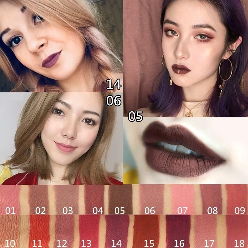 matte lipstick哑光欧美红棕色口红11-28新券