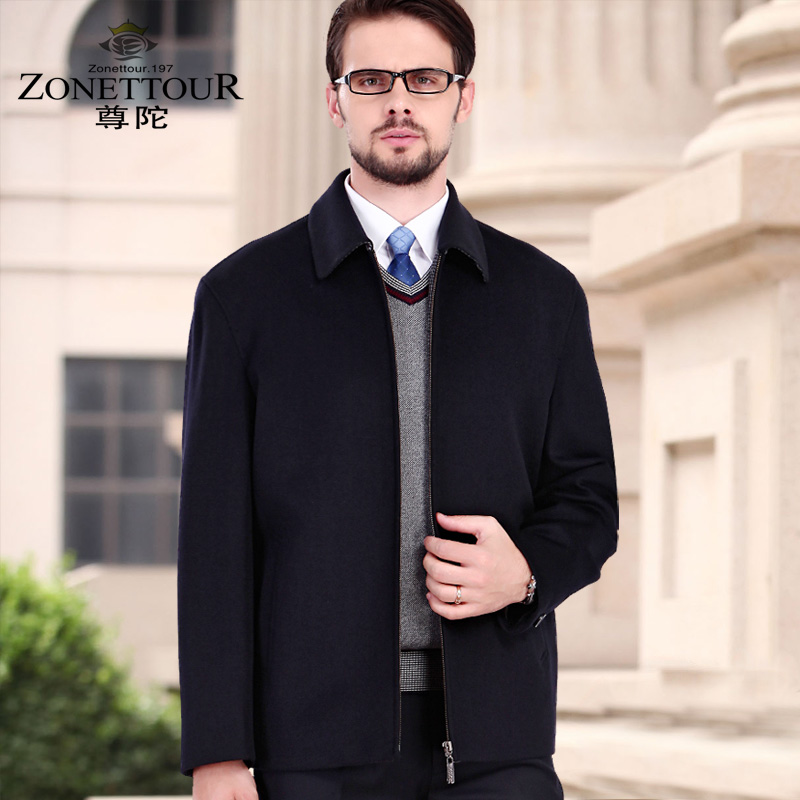 Zuntuo special price wool jacket mens middle-aged and old age wool coat fathers clothing spring and autumn cashmere short coat