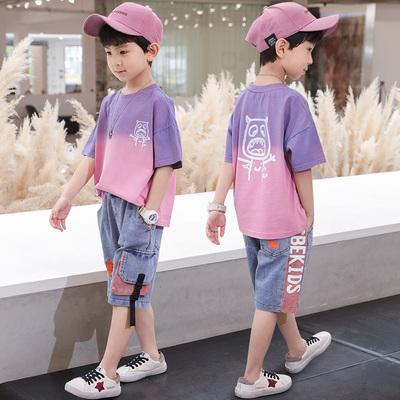 童装男童夏装套装2020新款韩版儿童夏季洋气男孩帅气中大童衣服潮