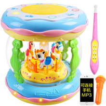 Baby hand drum beating children can charge drum beating early teach Wisdom 1 year old 0-6-12 months baby toys 3 Music