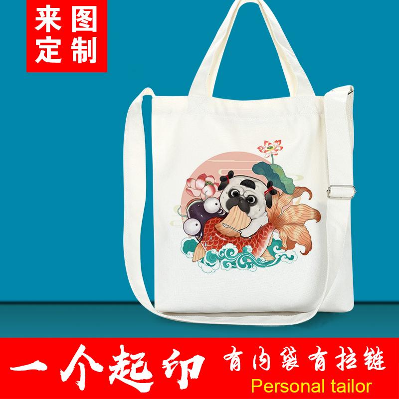 Animation canvas bag custom Single Shoulder Messenger Bag for boys and girls tutorial canvas bag DIY gift shopping bag