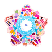 Disney Children's Cosmetics Toy Set Non-toxic Girls Children Princess Cosmetic Box Ice and Snow Margin