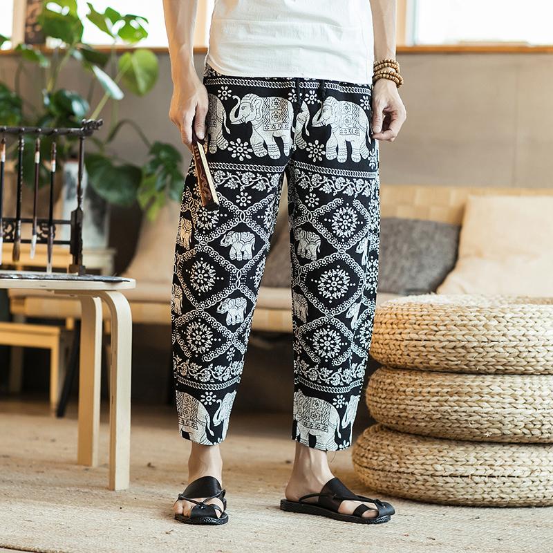 中国风男士宽松加肥大码泰国阔腿裤68.00元包邮