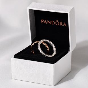 潘多拉戒指女官網正品標誌愛心925銀197133個性時尚疊戴關節戒女