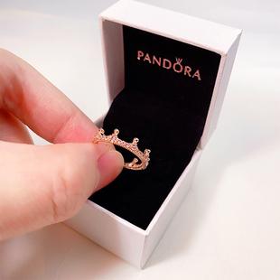 現貨 潘多拉PANDORA專櫃正品 新款玫瑰金魔法皇冠戒指女187087NPO