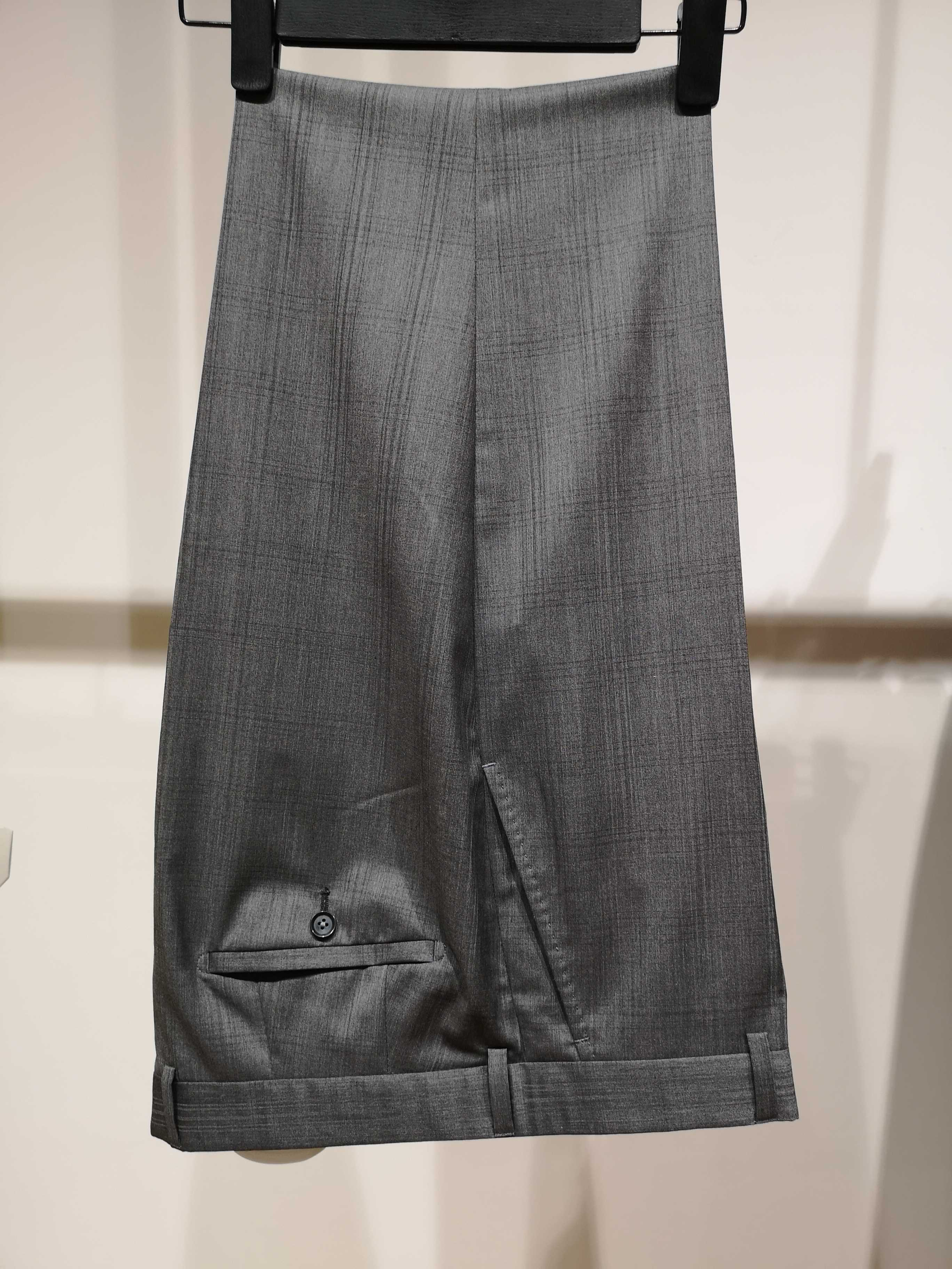 Mens trousers mulberry silk trousers straight tube summer wool loose casual pants middle-aged new thin suit pants