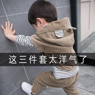 童裝男童秋裝套裝兒童潮2020新款韓版3-4-5歲6帥寶寶洋氣春三件套