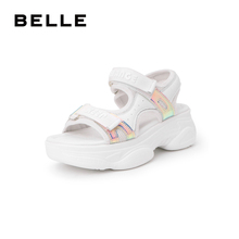 Belle sports style thick bottom sandals women's 2019 new summer shopping mall same casual shoes u1c1dbl9