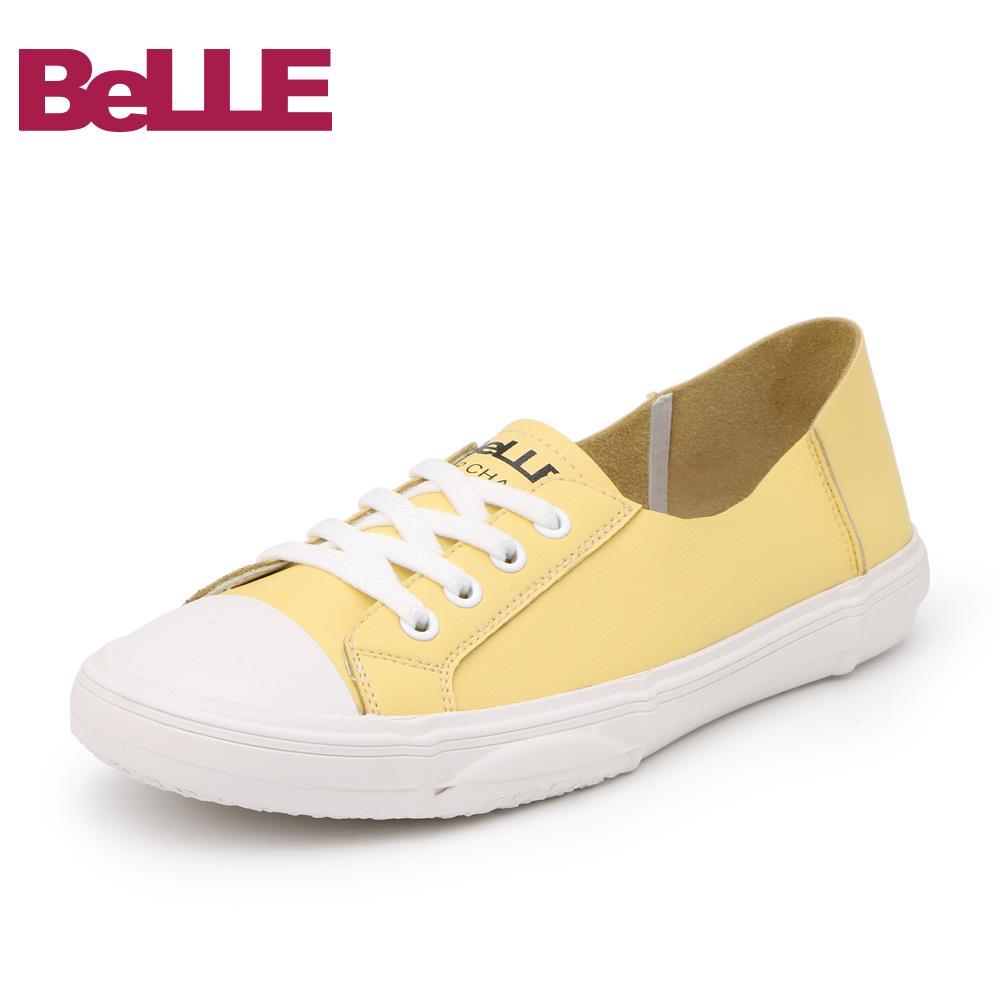 百丽春季商场同款平底板鞋