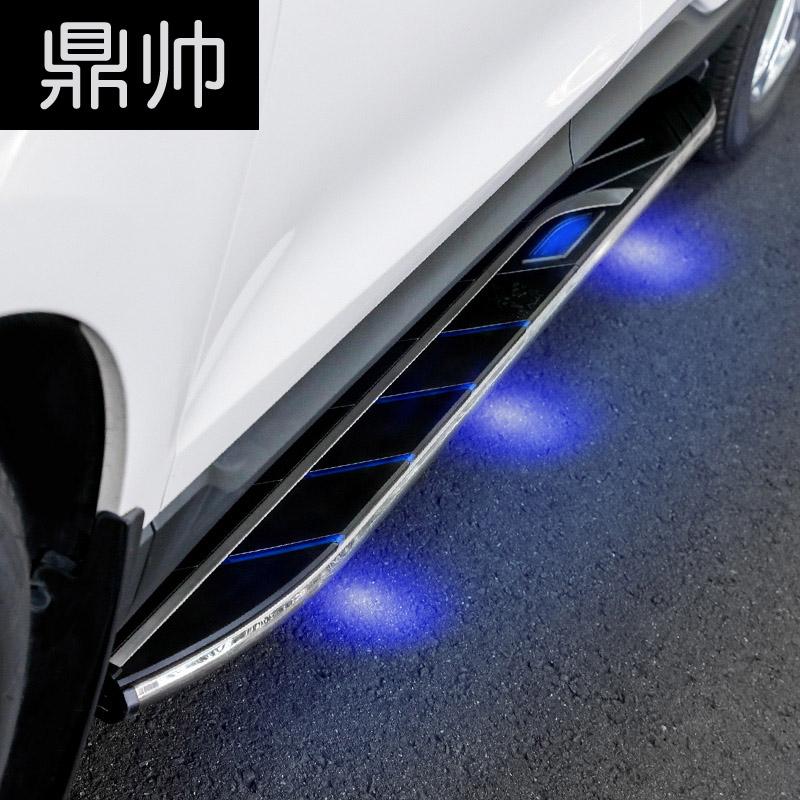 专用于15-18款福特新锐界踏板脚踏板15-18款翼虎侧踏板带篮灯改装