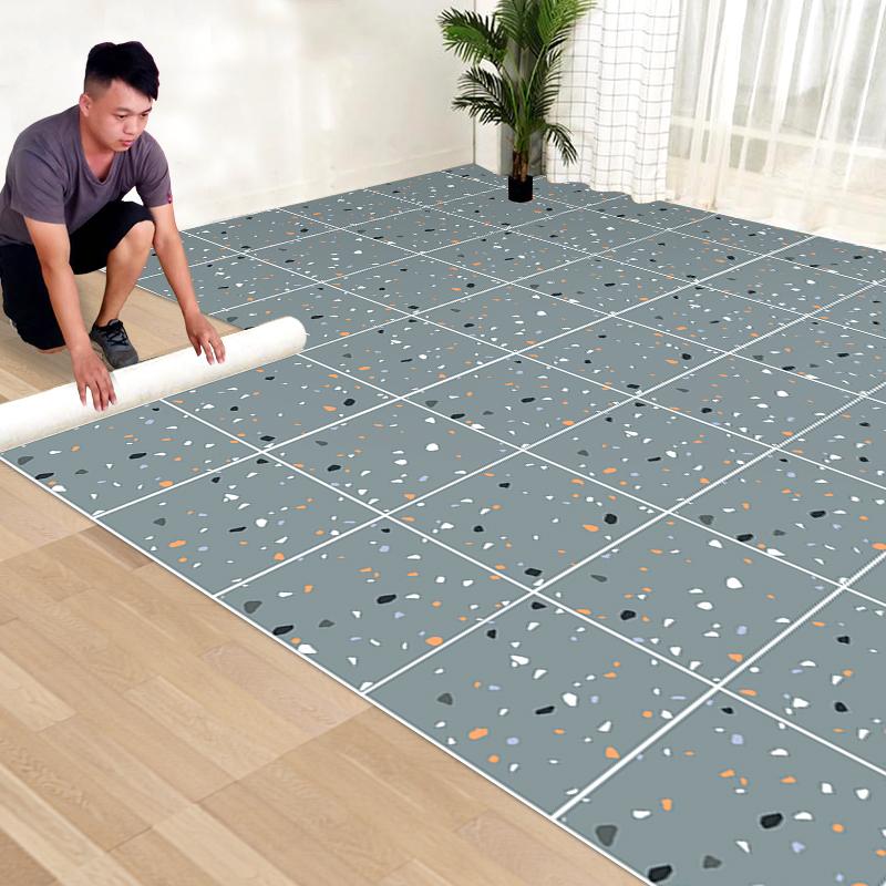 地板贴自粘厨房防油地面贴纸卫生间防水防滑浴室地贴厕所瓷砖墙纸