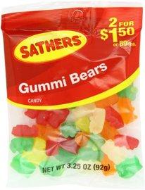 Farleys Sathers Candy, Gummy Bears, 3.25 Ounce, P图片