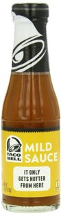 Glass Taco Bell Sauce Bottle, Mild, 7.5 Ounce (Pack of 12)