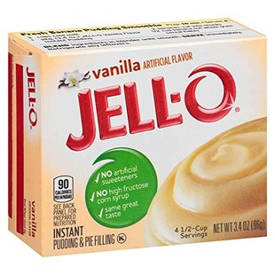 3.4 Pudding Mix Instant Vanilla Jell Ounce Box