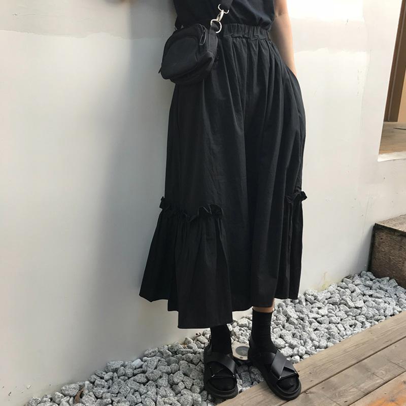 11月15日最新优惠日系山本风半身裙暗黑色系女装工装厌世风复古丧系egg赫本小黑裙