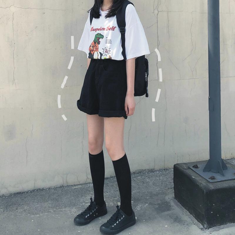 11月23日最新优惠工装短裤宽松日系中性bf风牛仔裤