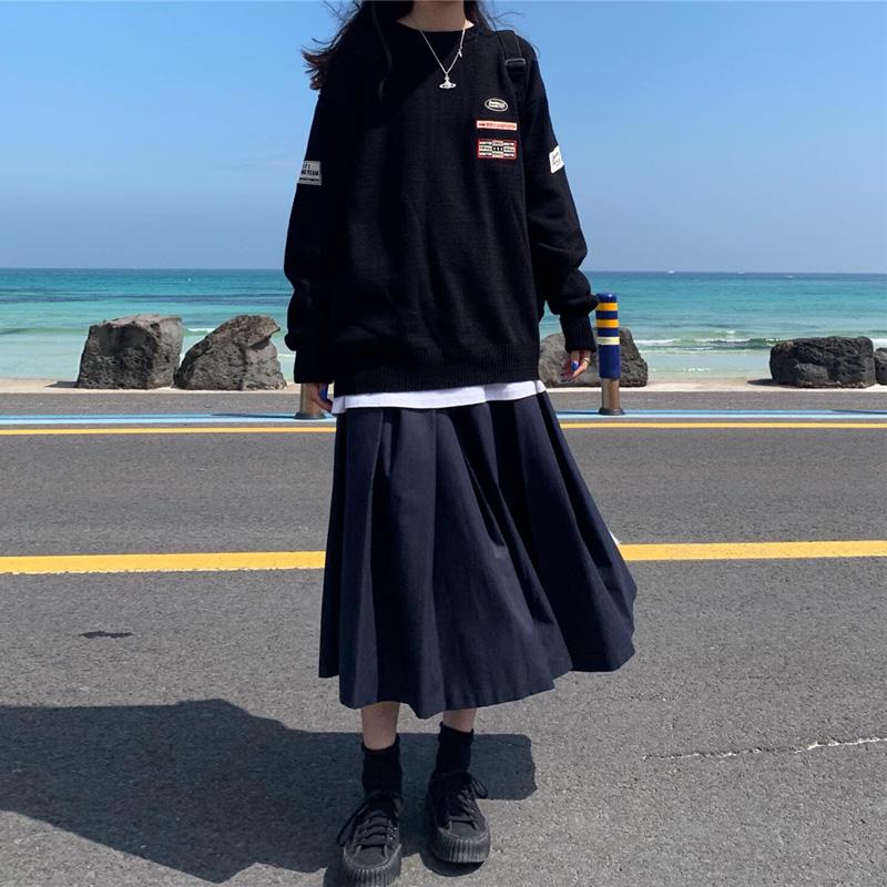 自制日系高腰工装风jk秋冬半身裙