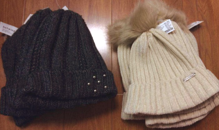 Buy Womens autumn and winter knitted tapered wool hat