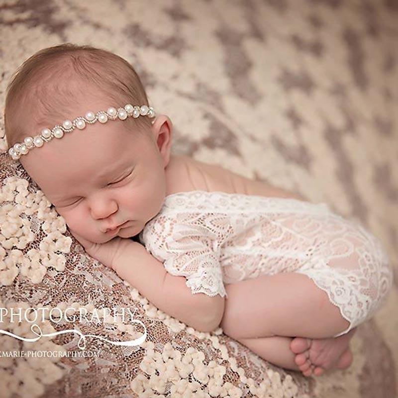 新生儿摄影服饰蕾丝连体套装 满月照拍摄服装影楼婴幼儿拍照服装