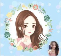Single cartoon design comic design cartoon avatar micro-micro-channel live cartoon photo to Q version