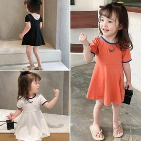 童装女童2021夏装新款短袖裙子儿童洋气网红夏季公主裙宝宝连衣裙