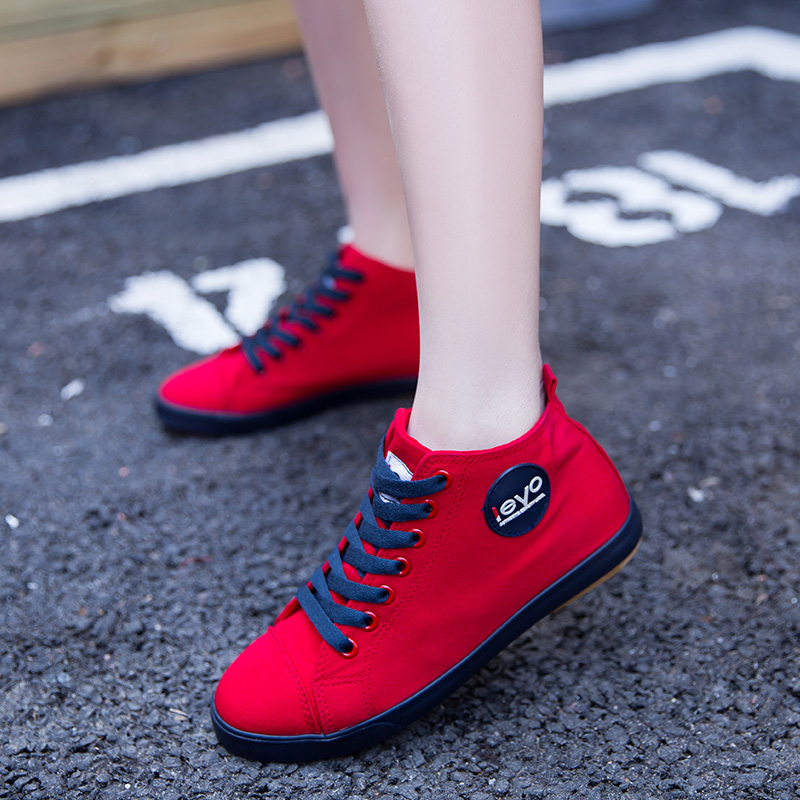 Spring and autumn high top canvas shoes womens Korean sports and leisure shoes white board shoes flat sole womens single shoes 2020 NEW