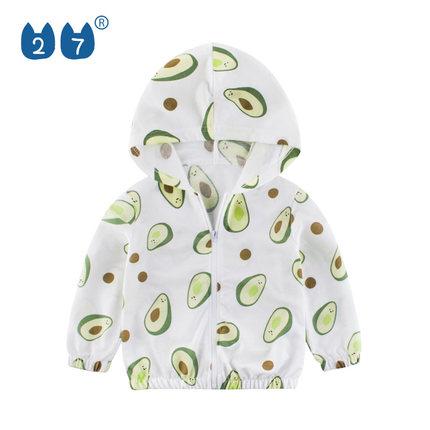 韩版童装男童外套2019新款儿童透气潮款连帽开衫中小童洋气防晒服