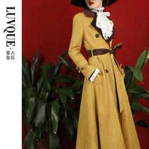 风衣女秋季2020新款中长款过膝气质流行大衣英伦风韩版宽松外套女
