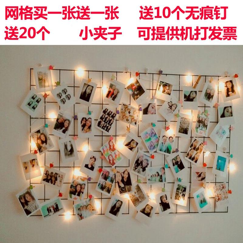 insグリッドの写真壁を飾って部屋の写真を掛けます。壁に穴を開けないでください。