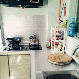 橱柜垫纸防水膜防潮垫锡纸贴纸厨房衣柜抽屉自粘铝箔柜子厨柜防油图片