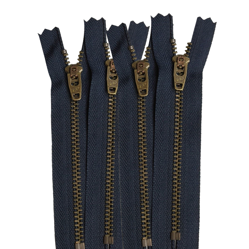 Ykk4 bronze teeth closed metal zipper clothing zipper denim accessories