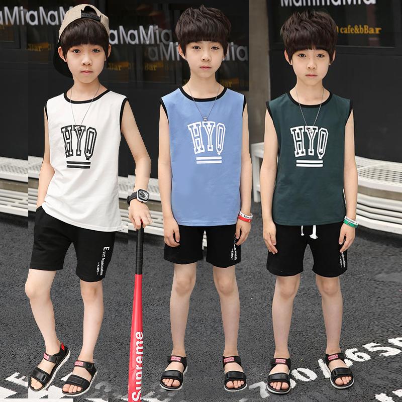 男童夏装套装中大童韩版短袖两件套2018新款小学生夏季潮男孩童装