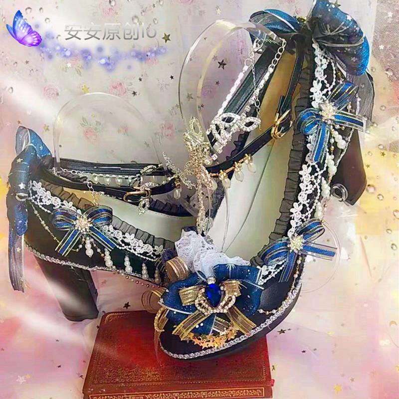Lolita hand made flower wedding shoes dream of Versailles Flower Wedding Tea Party