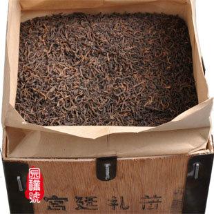 包邮木盒装克1000熟茶年勐海特级宫廷普洱散茶00云南普洱茶