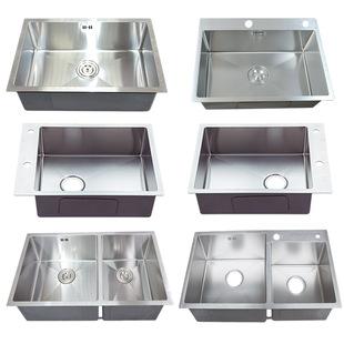 水槽定製定做加工廚房洗碗池304不鏽鋼手工盆訂做雙槽單槽洗菜盆