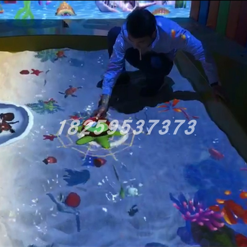 Ar ground projection interactive beach fishing farm intelligence breakthrough amusement equipment 3D science and Technology Museum