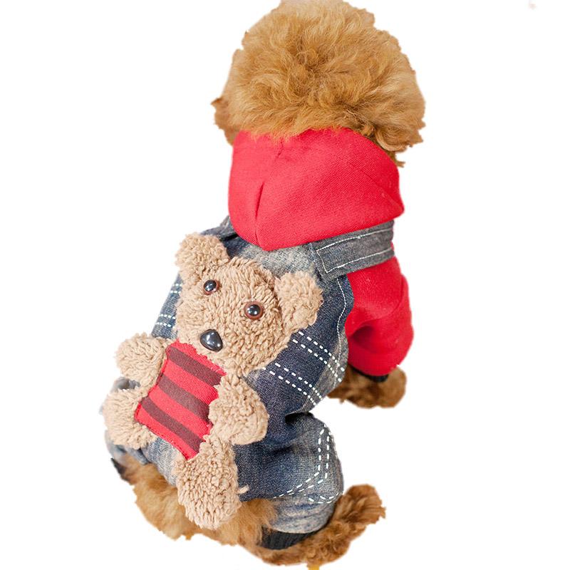 狗狗衣服 泰迪衣服 裝比熊貴賓幼犬 裝加厚棉衣四腳服飾