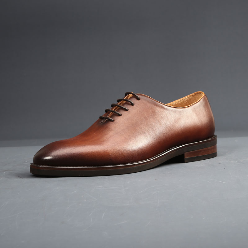 Mens shoes high end Goodyear handmade shoes British retro simple two joint business dress shoes Oxford Shoes shoes