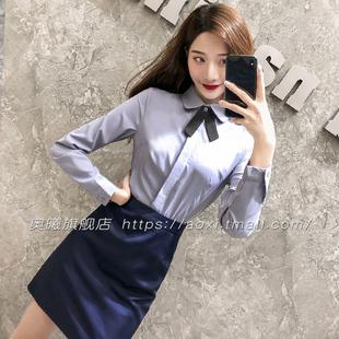 工作服职业装正装女套装衬衫套裙夏秋季气质长短袖ol工装空姐制服