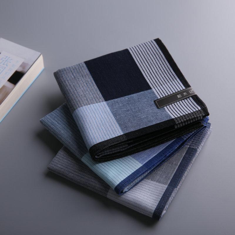 【和木记】(Leslie)手帕男士纯棉手绢方巾吸汗环保父亲节礼物新款