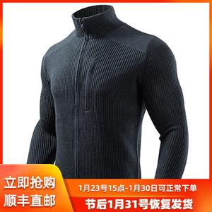 秋冬新款龙牙潜伏者羊毛衫男士加厚保暖毛衣 户外运动立领针织衫