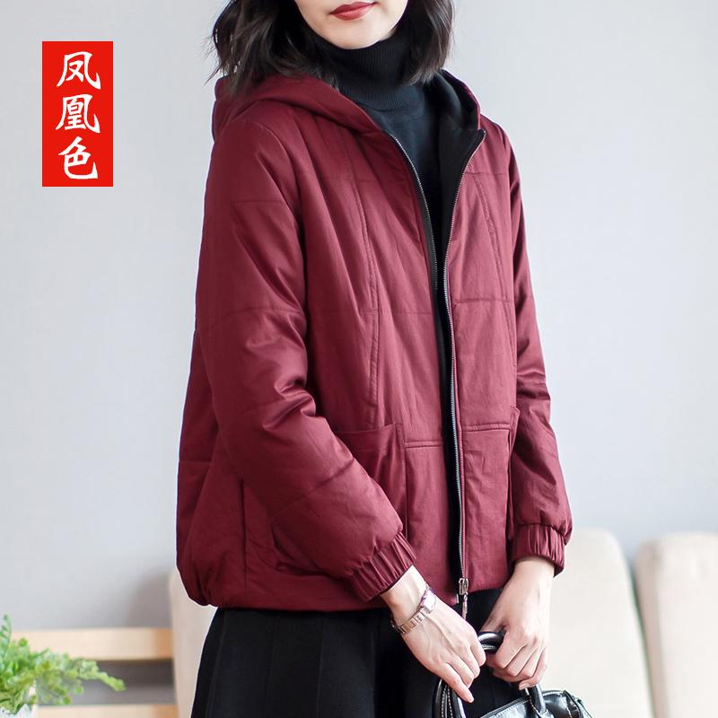 短款棉服女冬新款红色冬季外套小棉袄2019年宽松大码韩版冬装棉衣