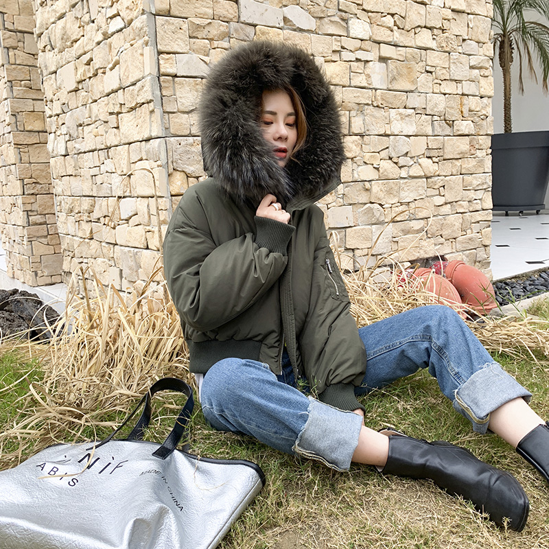 New Fox Fur Collar fur coat down jacket liner womens wear in autumn and winter 2020