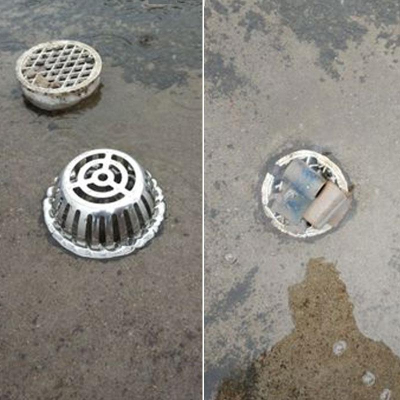 有赠品不锈钢圆形天台75110 160防堵过滤网室外阳台大排量下水道地漏盖