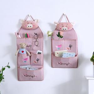布艺挂袋收纳袋收纳布袋挂袋墙挂式墙上储物袋门后悬挂整理置物袋