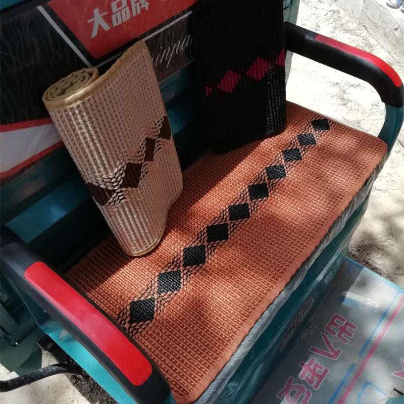 電動三輪車坐墊套四季通用夏季透氣冰絲涼席前后座墊套wyl71dFTuD